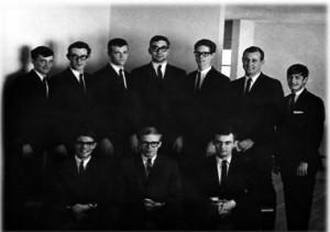 Back Row: Byron Vermillion, Mike Hoff, John Janes, Leroy Kraske, Ken Hammann, Ben Stewart, Peter Dunkailo Front Row: Dave Beardsley, Bob McDavid, Dale Ricks